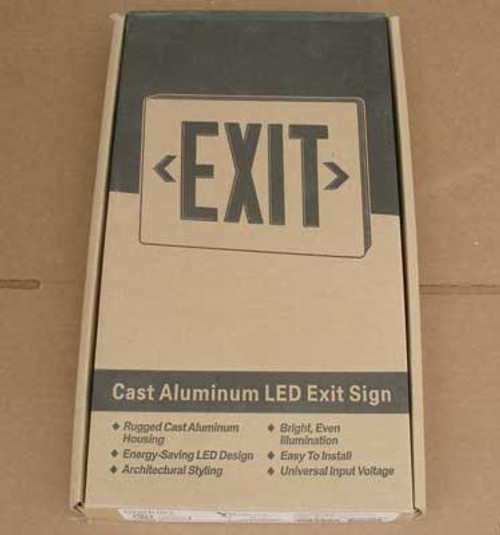 Dual-Lite CVD2RABN Cast Aluminum LED Exit Sign Double Face Red - New