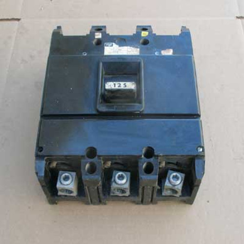 Federal Pacific NJL631125 125 Amp 3 Pole 600VAC Circuit Breaker - Used