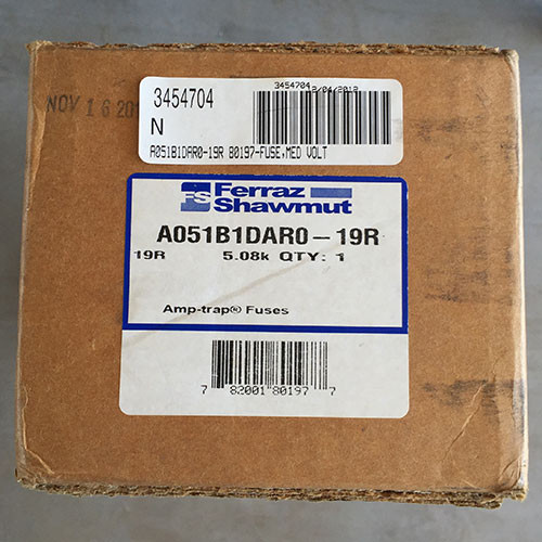 Ferraz Shawmut A051B1DAR0-19R Current Limiting Motor Circuit Backup Power Fuse