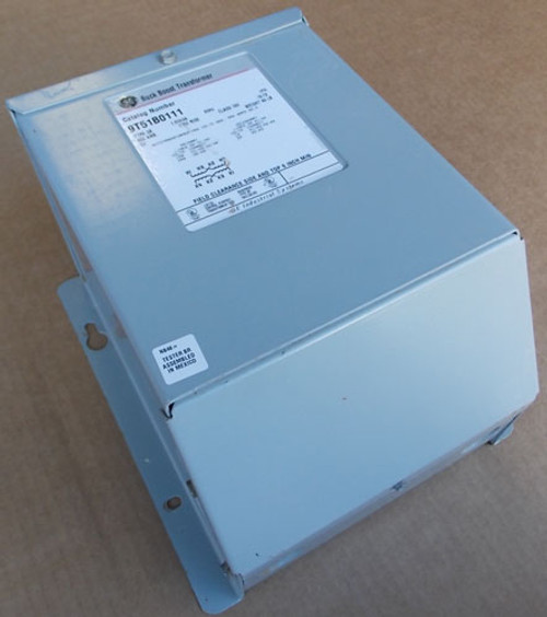 GE 9T51B0111 1.50 KVA 120/240 to 12/24V 1PH Buck Boost Transformer N3R - Used