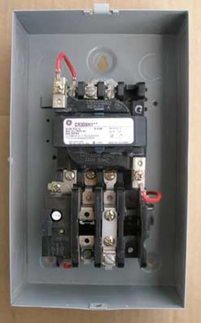 GE CR306 300-Line Size 00 Magnetic Starter 1 Phase 9 Amp 600V Nema 1 - used
