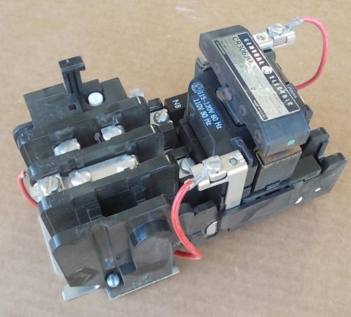 GE CR306J002 Size 0 Magnetic Starter 18 Amps 2 Pole 120 Volt Coil - New