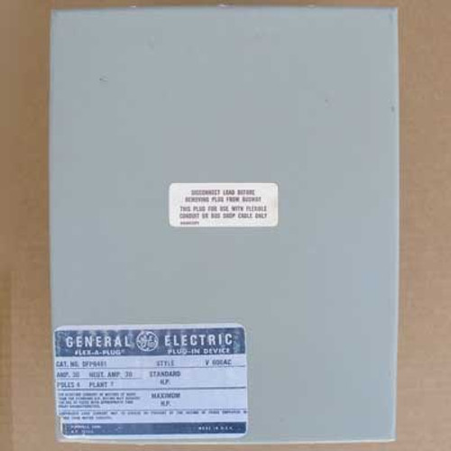 GE DFPB461 Bus Plug Flex-A-Plug 30 Amp 600VAC 4 Pole - New