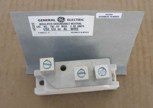 GE Insulated Groundable Neutrals TNI62 60 Amp 600V Model No. 4