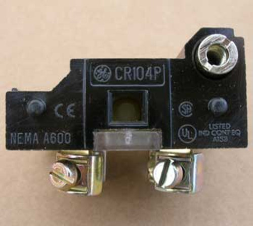 General Electric CR104PXC91 Double Circuit Contact Block