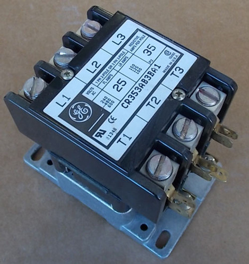 General Electric CR353AB3BA1 3P 25A 120V Coil Magnetic Contactor - Used