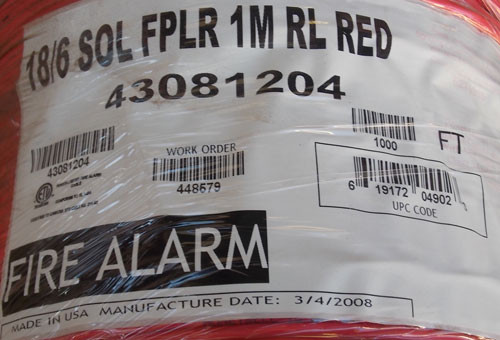 Genesis 18/6 SOL FPLR 1M RL RED Fire Alarm Wire 1000Ft - New