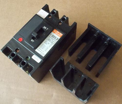 Hitachi F-100FB 3P 3 Pole 60 Amp 600V Fuse Free Circuit Breaker - Used