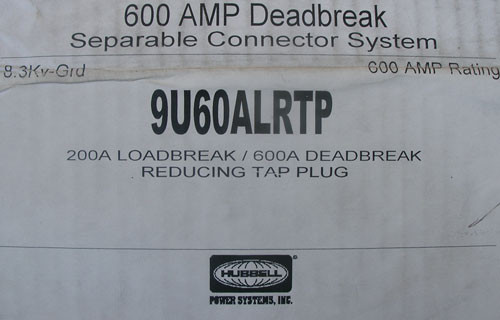 Hubbell 9U60ALRTP 200A Loadbreak 600A Deadbreak Reducing Tap Plug - New