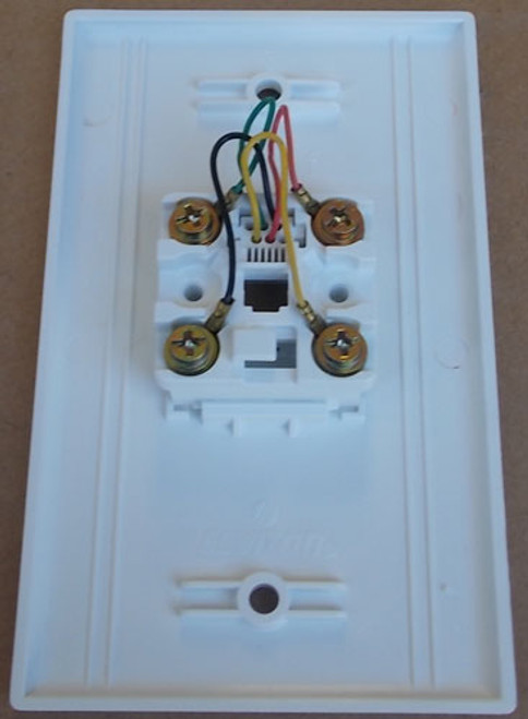 Leviton 40949W 4-Conductor Flush Mount Wall Jack Type 625B4 White (Lot of 10)
