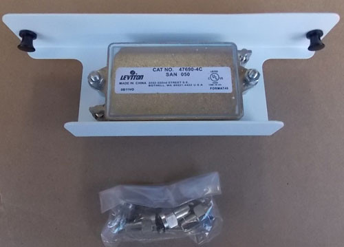 Leviton 47690-4C2 1X4 Passive Video Splitter 2GHZ 75 Ohm in White