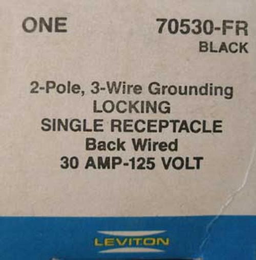 Leviton 70530-FR 2 Pole, 30 Amp, 125 Volt, Locking Receptacle