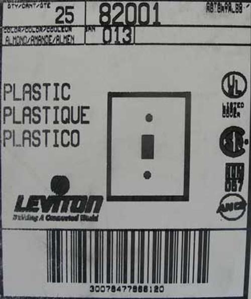 Leviton 82001 1-Gang Toggle Device Switch Wallplate (Lot of 25)