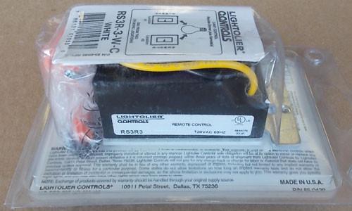 Lightolier RS3R-3-W Rockslide Preset Dimmer 3-Way Remote 120V White