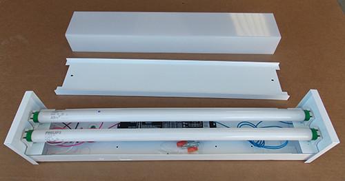 Lithonia 11852 17 MVOLT GEB10IS 2' Fluorescent Wall Light 34W White - New