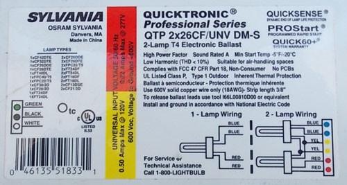 Lithonia GRSF 1/26-42TRT 6 MVOLT HSG U Recessed Fluorescent Housing
