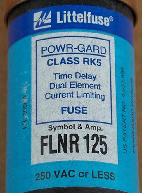Littelfuse POWR-GARD FLNR125 125A 250VAC Class RK5 Time Delay Fuse - New