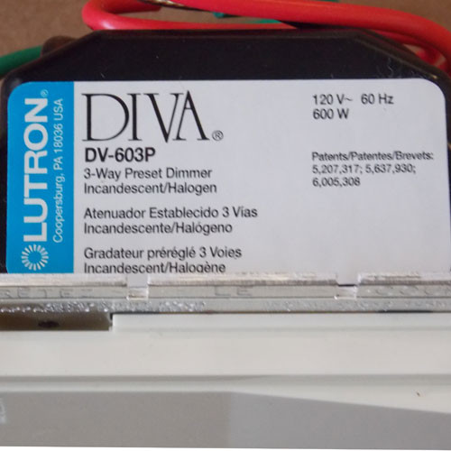 Lutron DV-603P-AL 600W 120V 3-Way Preset Incandescent Halogen Dimmer