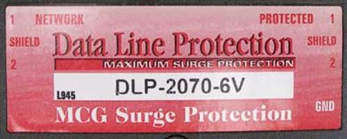 MCG Electronics DLP-2070-6V Surge Protector - New