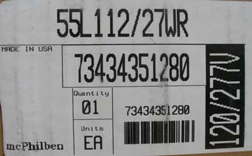 McPhilben 55L112/27WR AC Exit Fixture 120/277 VAC - New