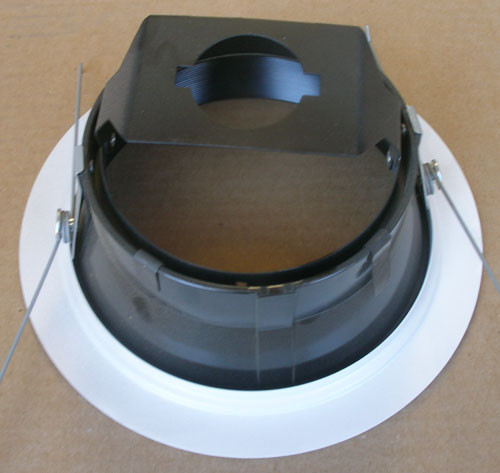 """Juno 264B-WH 6"""" Adjustable Tapered Black Baffle with White Trim, PAR30 - New"""