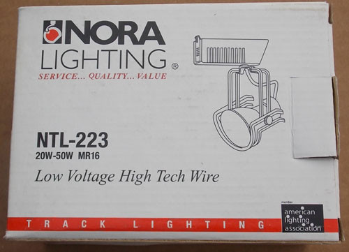 Nora Lighting NTL-223 50W MR16 Low Voltage High Tech Wire Track Head - New