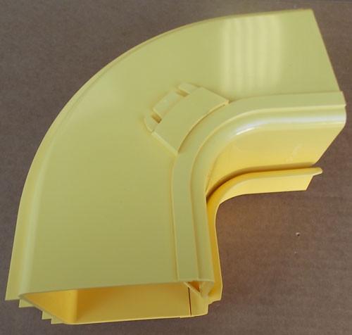 Panduit FRIVRA4X4YL FiberRunner Fitting 4x4 Inside Vert Right Angle - New