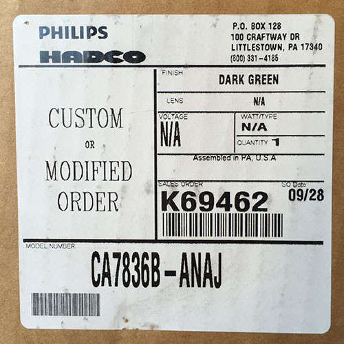 Philips Hadco CA7836B-ANAJ Fixture Green - New