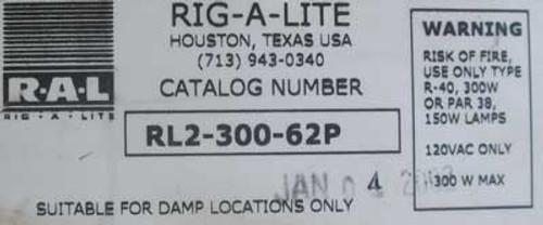 """Rig-a-lite RL2-300-62P Dual Arm 300W Incandescent 62"""" Reach - New"""
