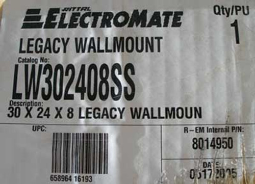 Rittal LW302408SS Electromate 30x24x8 Legacy Wallmount - New