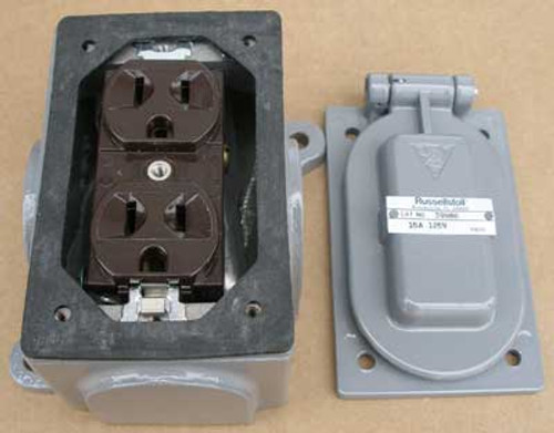 Russellstoll 3998G Receptacle 15 Amp 125V 2 Wire 3 Pole