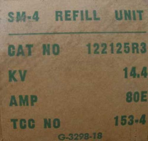 S&C 122125R3 SM4 14.4 KV 80E Fuse Refill Unit - New