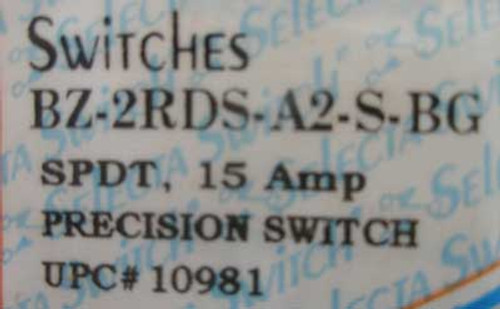 Selecta BZ-2RDS-A2-S-BG SPDT 15 Amp Precision Switch