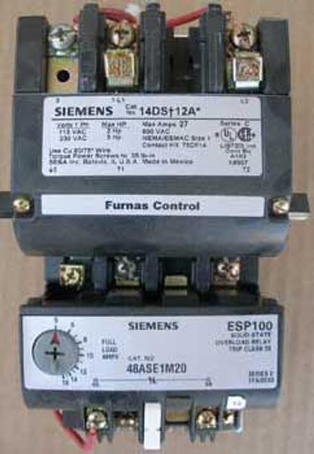 Siemens 14DSE12AF Size 1 Starter 120V 5-16A Open - New