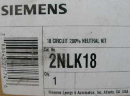 Siemens 2NLK18 18 Circuit 200% Neutral Kit