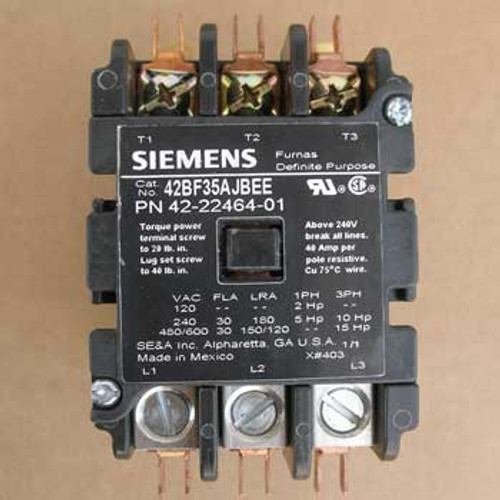 Siemens 42BF35AJBEE Definite Purpose Controller 3P 24VAC 60Hz Coil - New