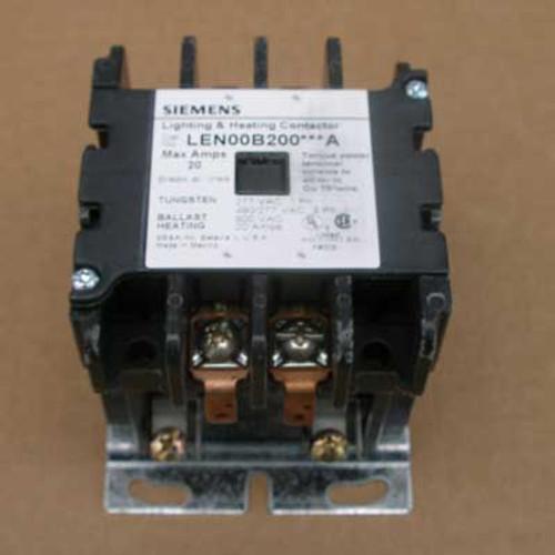 Siemens LEN00B200600A 20 Amp 2 Pole Lighting Contactor 600V Open