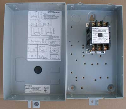 Siemens LEN01B003120A 20 Amp 3 Pole Lighting Contactor NEMA 1 - New