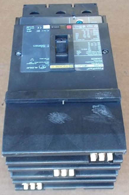 Square D JJA36225 3 Pole 225 Amp 600 VAC Circuit Breaker - NPO