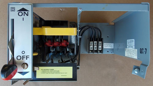 Square D Model 5 Motor Control Center Feeder Bucket 30A 480V 3PH - Used