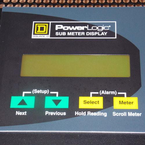 Square D SMD63 PowerLogic Modbus Network Sub Meter Display - Used