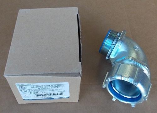 "T&B 5257 2"" Liquid-Tight Flexible 90 Degree Angle Metal Conduit Connector - New"