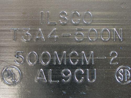 Thomas & Betts 3Pc ADR50-34 3 Conductor 4 Hole Mount Aluminum Lug - New