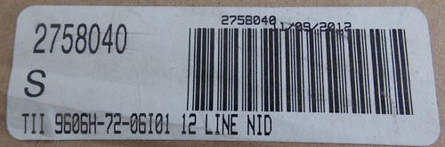 TII 9606H-72-06I01 Network Interface Device 12 Line NID - New