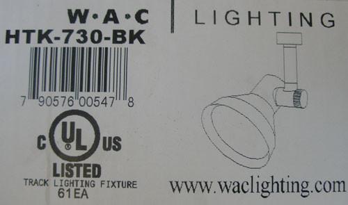 WAC Lighting HTK-730-BK 120V 75W PAR30 Line Voltage Track Head Black - New