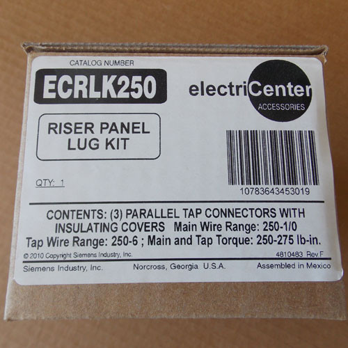 Siemens ECRLK250 Riser Panel Lug Kit - New