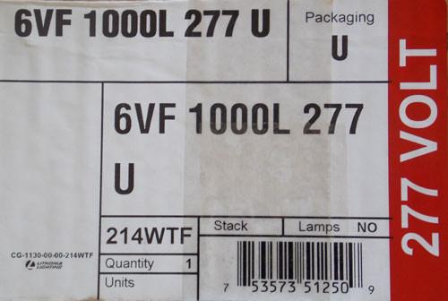 Lithonia 6VF 1000L 277 U Recessed Downlight Housing 277V - New