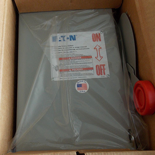 Eaton DH221FRK Heavy Duty Fusible Safety Switch 2 Pole 30 Amp 240V Nema 3R - New
