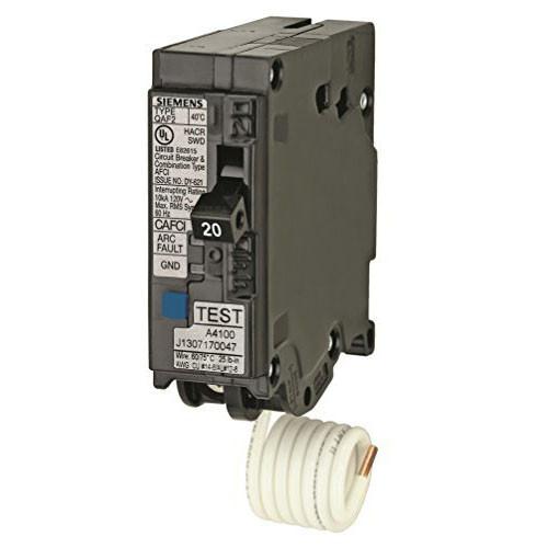 Siemens MPA120AFC 1 Pole 20 Amp 120V Arc Fault Circuit Breaker - NPO