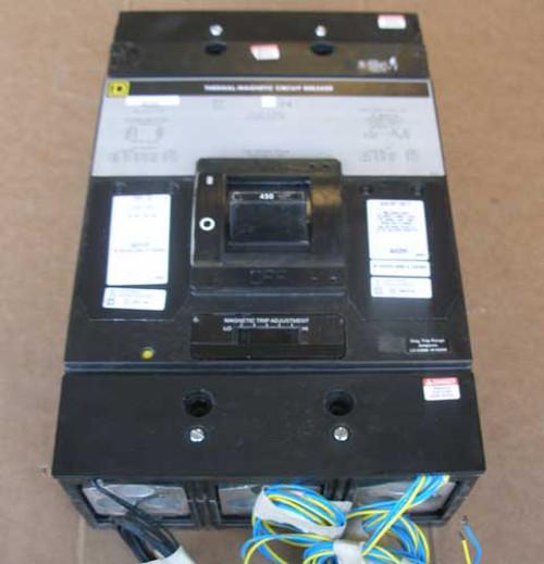 Square D MHL36300 3 Pole 300 Amp 600VAC 65K Circuit Breaker - Used